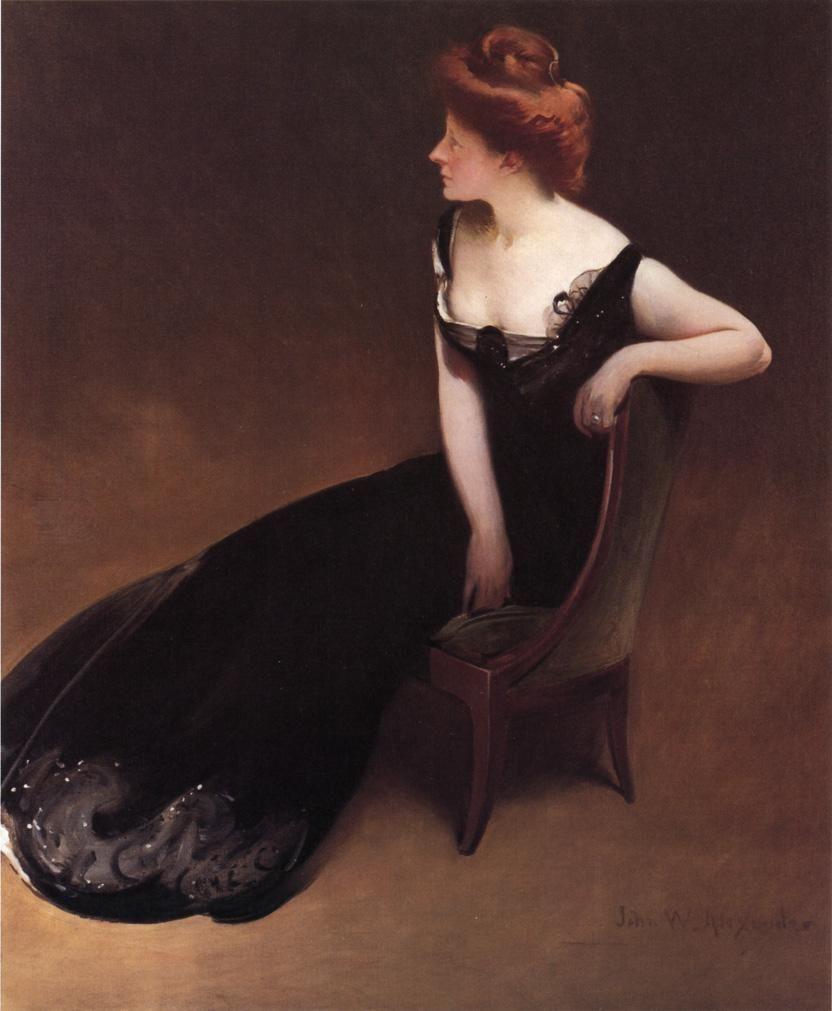 Portrait of Mrs. Herman Duryea (c. 1900) by John White Alexander -- #johnwhitealexander