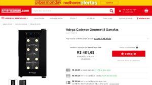 Americanas.com  Adega Cadence Gourmet 8 Garrafas por R  406,29   Bem ... 764d65dacc