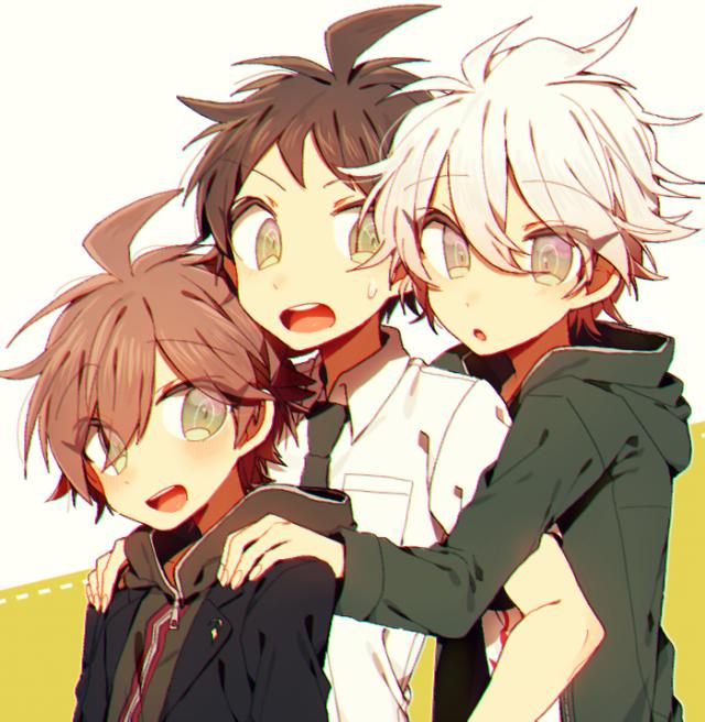 Makoto | Hajime | Nagito | Danganronpa, Desesperacion, Saga