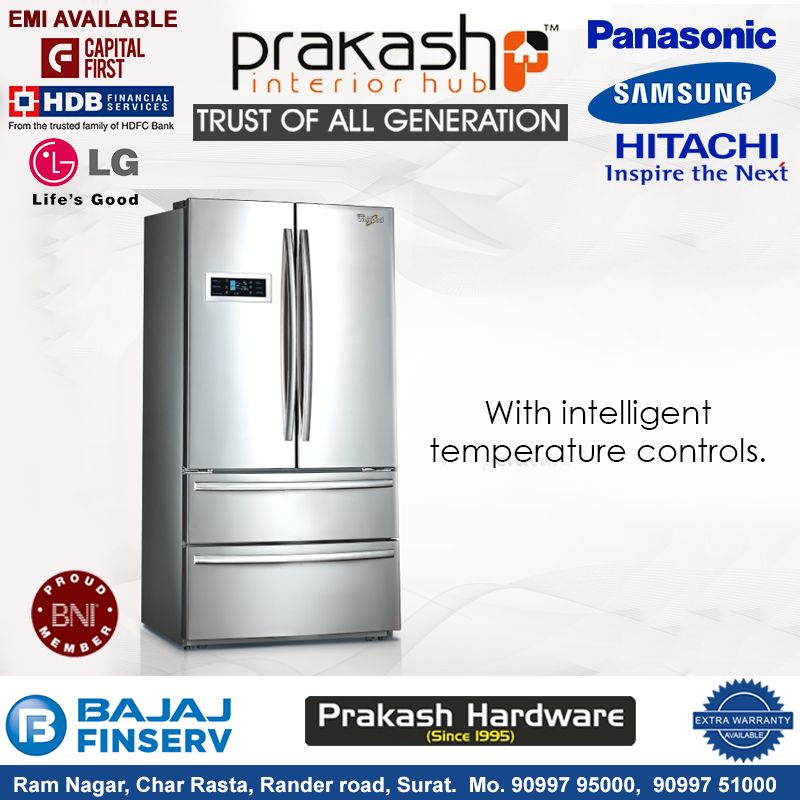 Get The Chilling Experience With The Latest Technology Refrigerator Address Prakash Interior Hub Ram Nagar Char Rasta Rander Road Samsung Tvs Surat Interior