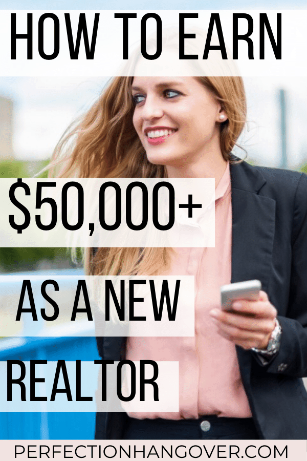 Starting a real estate career is fun and challenging, but it's a lot more work than you may be prepared for. Here's how to make more money as a new real estate agent your first year. #realestate #realestatemarketing #makemoney #realtor via @perfectionhangover