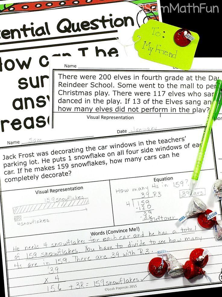 Christmas Math Word Problems Fourth Grade Multi-Step | Word problems ...