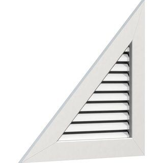 Right Triangle Gable Vent Left Side 20 W X 15 H 29 W X 21 3 4 H Frame Functional 9 12 Pitch Ekena Millwork Gable Vents Millwork