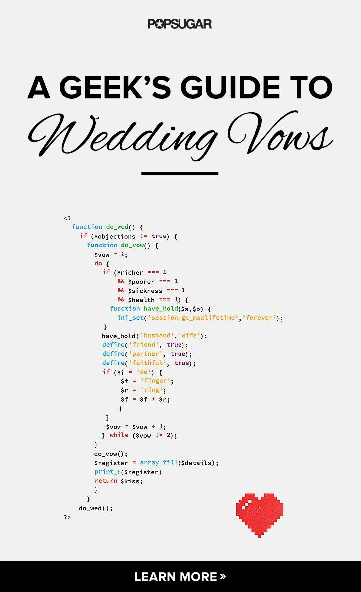 wedding quotes vow inspiration for coding geeks whovians and more