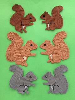 Squirrel pattern by Kerri Brown #crochetapplicates