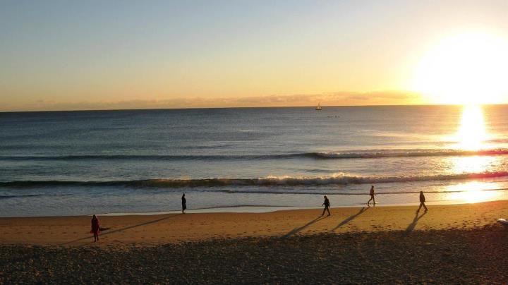 Winter sunrise Mooloolaba Beach, Sunshine Coast, Australia