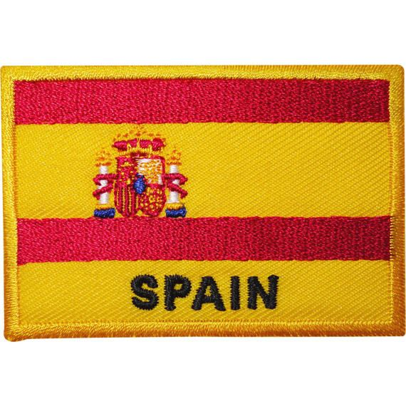 Sew On Clothes Spanish Patch T Shirt Bag Hat Badge Spain Flag Embroidered Iron