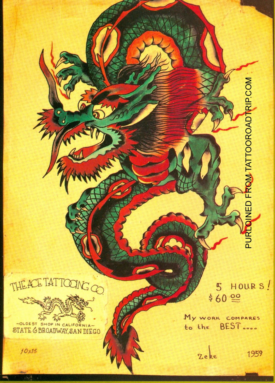 7dc7ac16e6e12 Traditional Dragon Tattoo Sailor Jerry Blog page, i want and blog on  pinterest