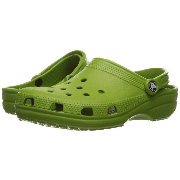 12fb28dcd Crocs Classic Clog (Parrot Green) Clog Shoes ( 35) ❤ liked on Polyvore  featuring shoes
