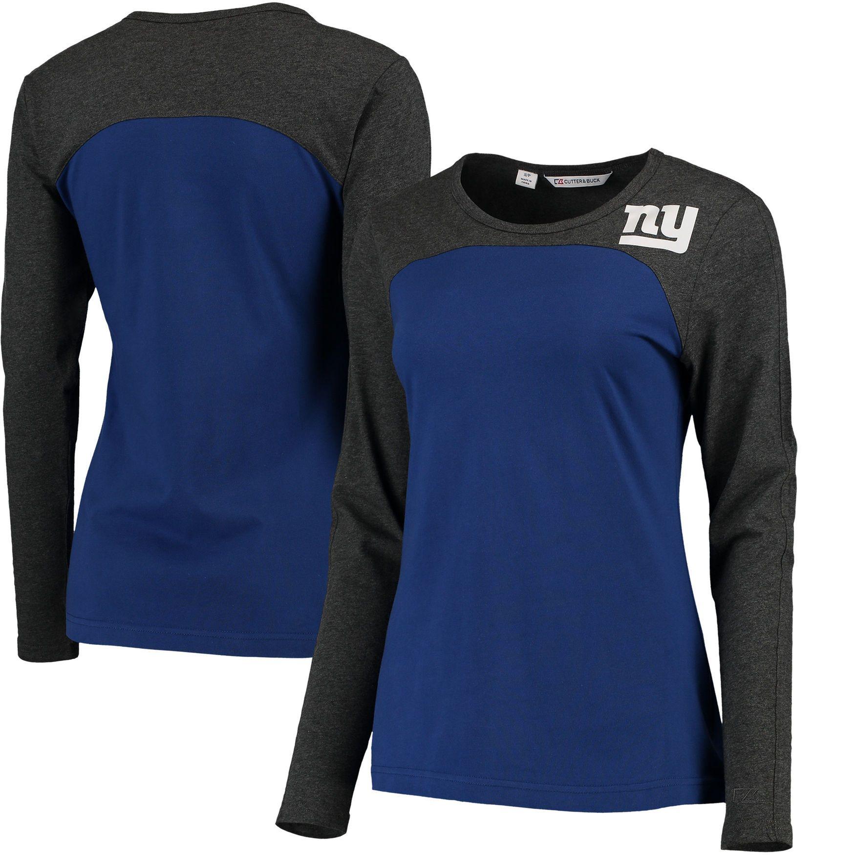 1e57c8a4 Women's New York Giants Cutter & Buck Royal Compel Colorblock Long ...