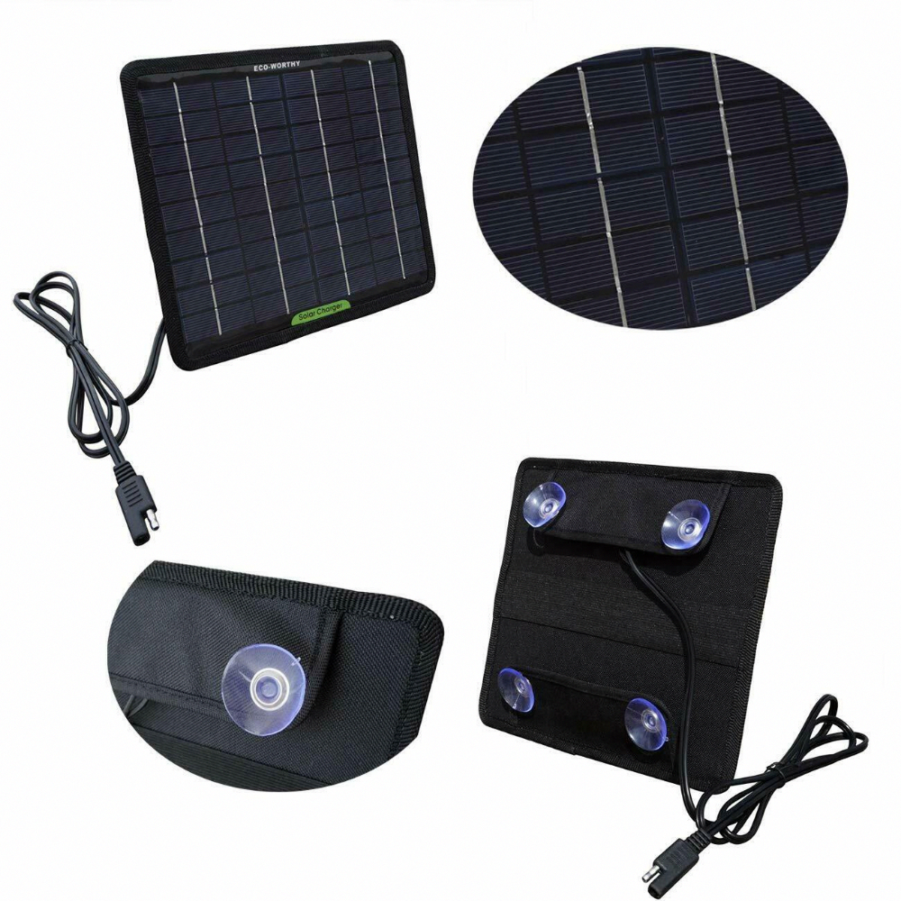 Solar Panel 12v Battery Charger System Maintainer Rv Car Boat Marine Waterproof 788256345242 Eb Solar Battery Charger Solar Panel Charger Solar Panel Battery