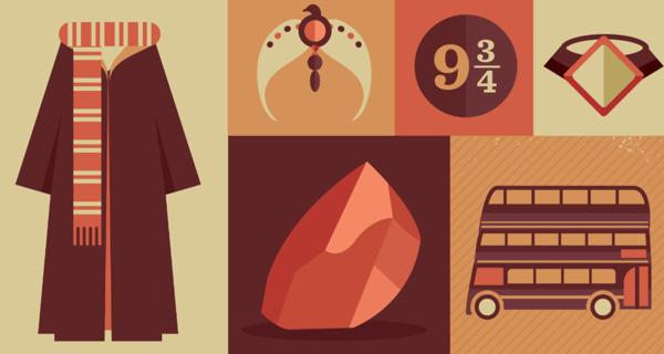 Harry Potter Items by Risa Rodil, via Behance