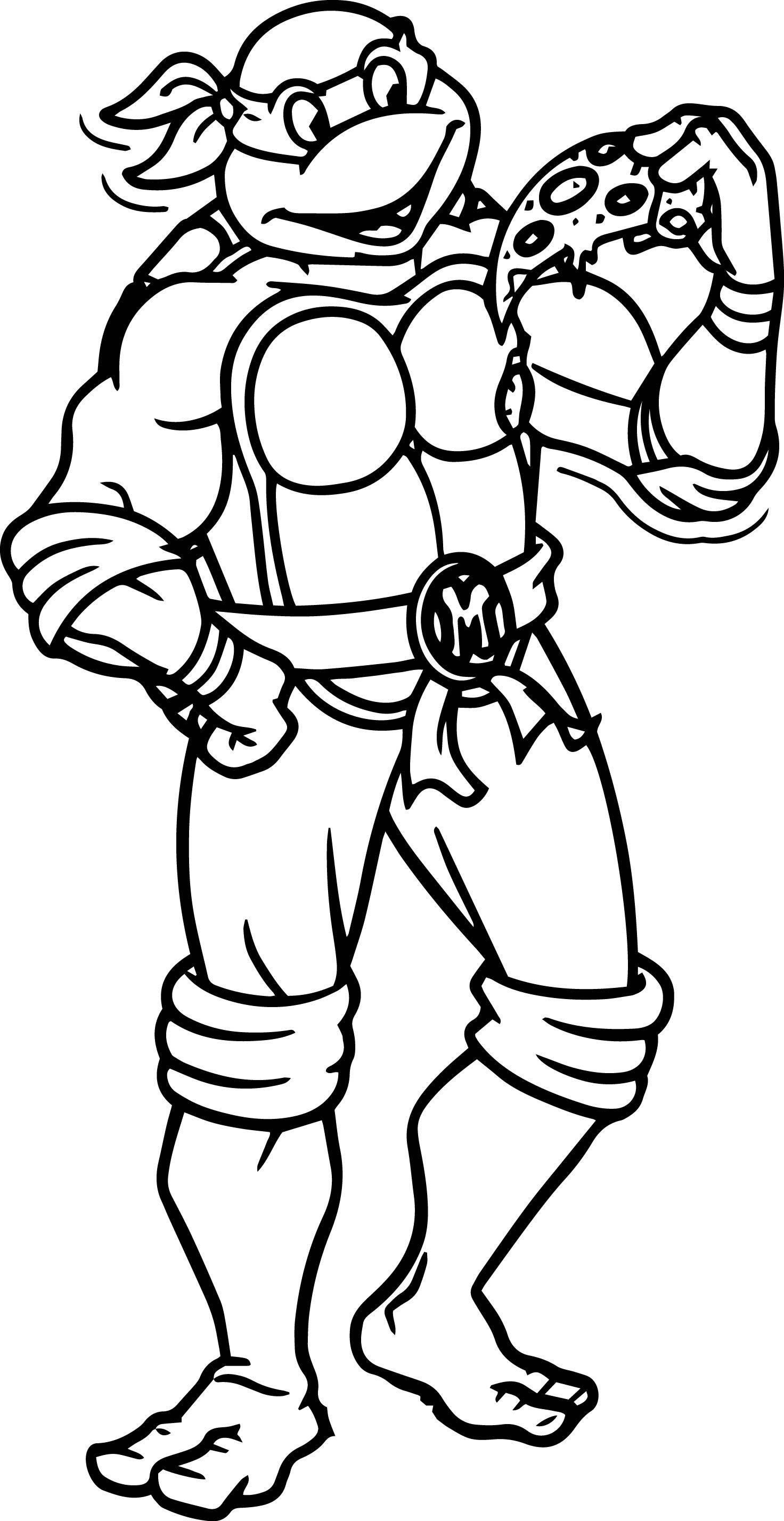 Turtle Best Eat Pizza Coloring Page Teenage Mutant Wecoloringpage Turtle Coloring Pages Superhero Coloring Pages Ninja Turtle Coloring Pages