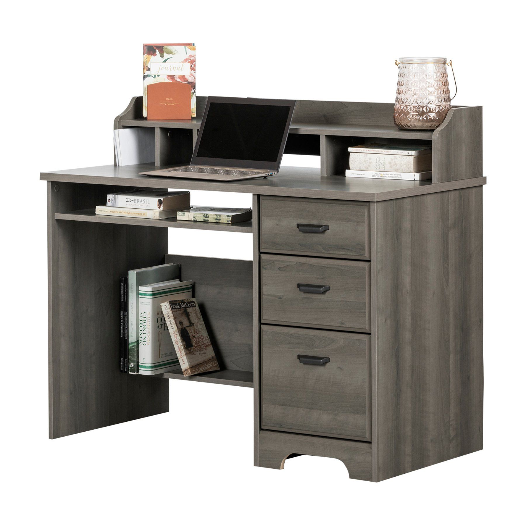 south shore versa computer desk with hutch products in 2019 rh pinterest com