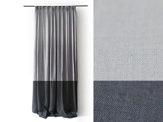 color block curtains navy pink and white linen pinch pleat drapery panel curtain unlined blackout lined drapes blue