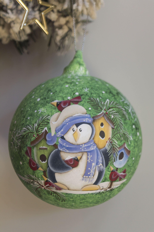 Addobbi Natalizi Vetro.Palla Di Natale Palla Di Vetro Addobbo Natalizio Decoro Etsy Glass Blowing Glass Ball Hand Painted