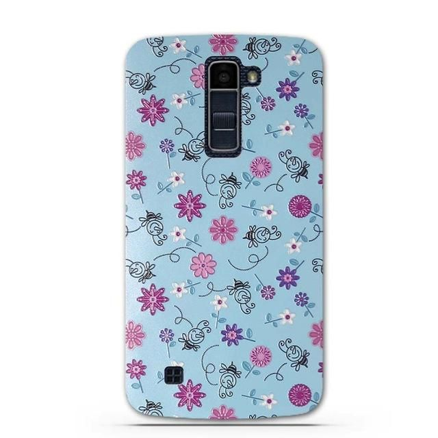 Case For LG K10 LTE K420N K430 K430ds F670 Soft TPU Back Case Cover For LG K10 Flower Pattern Phone Cases for LG K10 K410 K420N