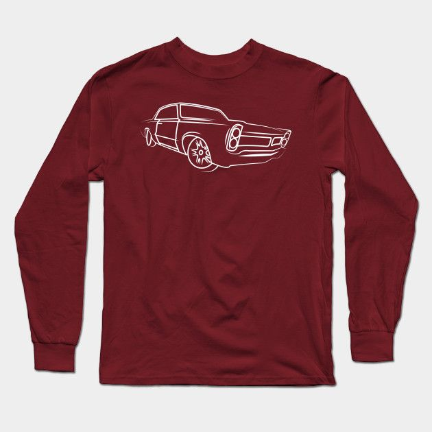 Old School Retro Classic Car Side Muscle Car Gifts For Car Lovers Long Sleeve T Shirt