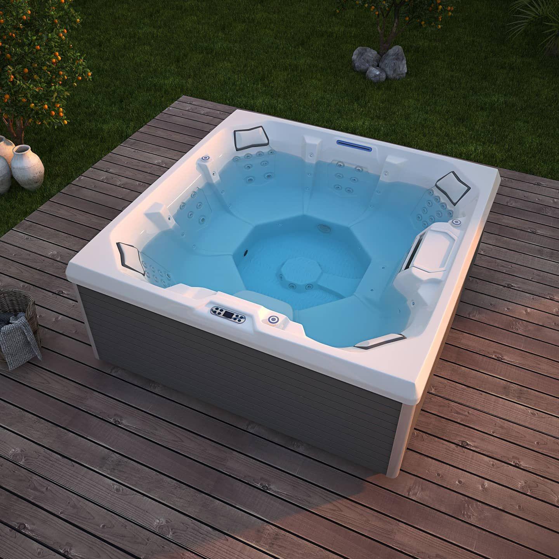 Luxury Hot Tub For Sunbath In 2021 Hot Tub Luxury Hot Tubs Sunbathing