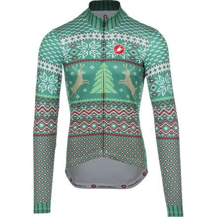 Castelli Holiday Sweater Jersey - Long-Sleeve - Men s Green  96c9a82cb