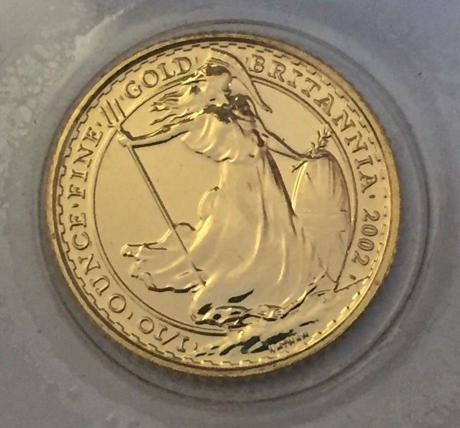 2002 Gold Britannia 1 10 Ounce Coin Coins Gold Coins Bullion Coins