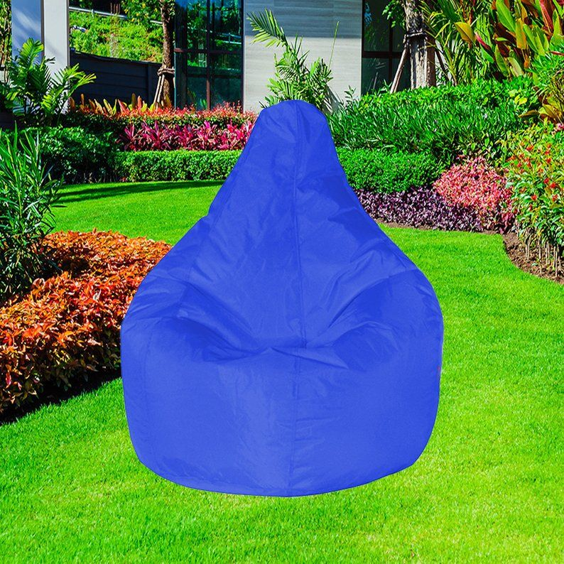 Admirable Bean Bag Cover Outdoor Big Bean Bag Chair Cover Only Blue Beatyapartments Chair Design Images Beatyapartmentscom