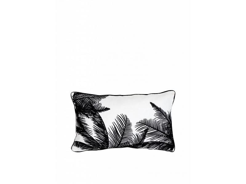 Zwart wit geborduurd palmboom kussen ǀ cm pillows