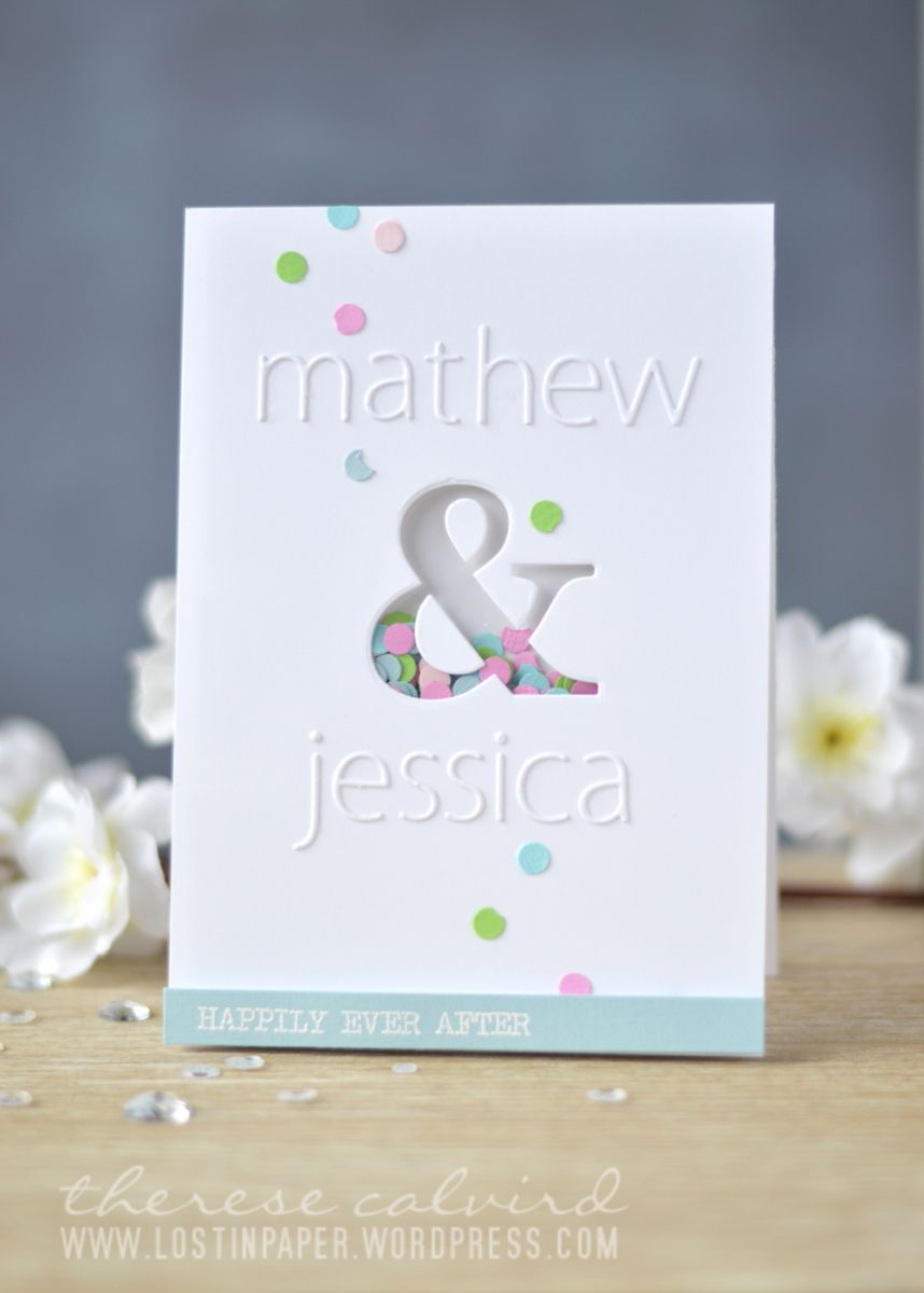 Personalised Wedding Card With Homemade Confetti