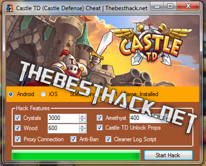 Castle TD (Castle Defense) Hack Cheats Hello  I have the honor to
