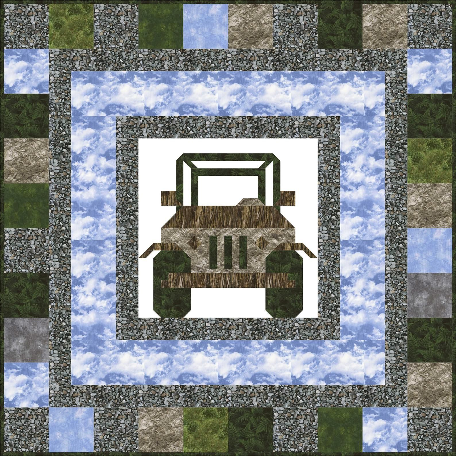 Off Road Quilt Pattern Quilt Patterns Quilts Triangle Quilt