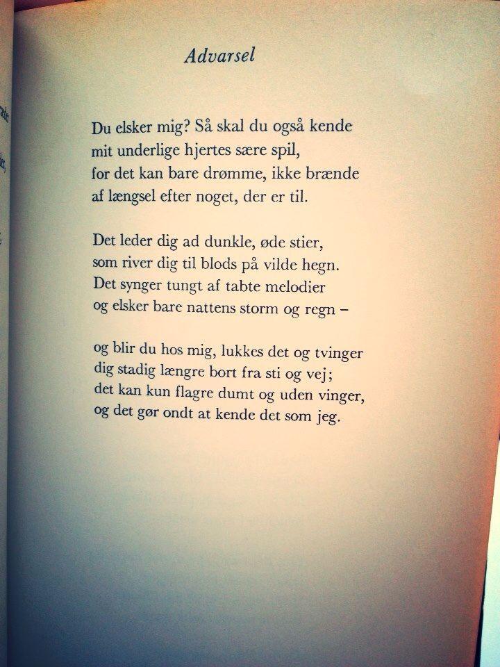 tove ditlevsen citater Advarsel   Blå Nætter   Tove Ditlevsen | Danish quotes | Pinterest tove ditlevsen citater