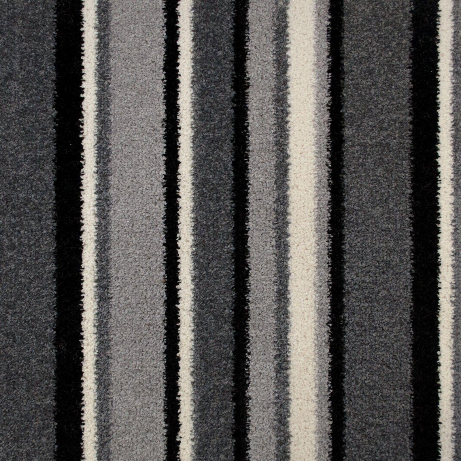 Grey 950 Pop Art Striped Carpet