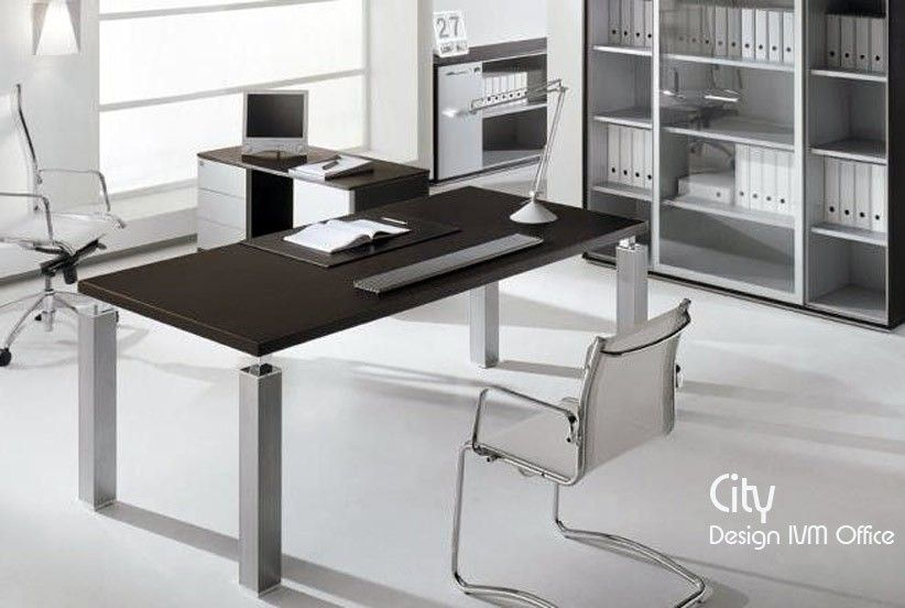 Bureau CITY Weng 210X100 cm Design IVM Office projet sweet