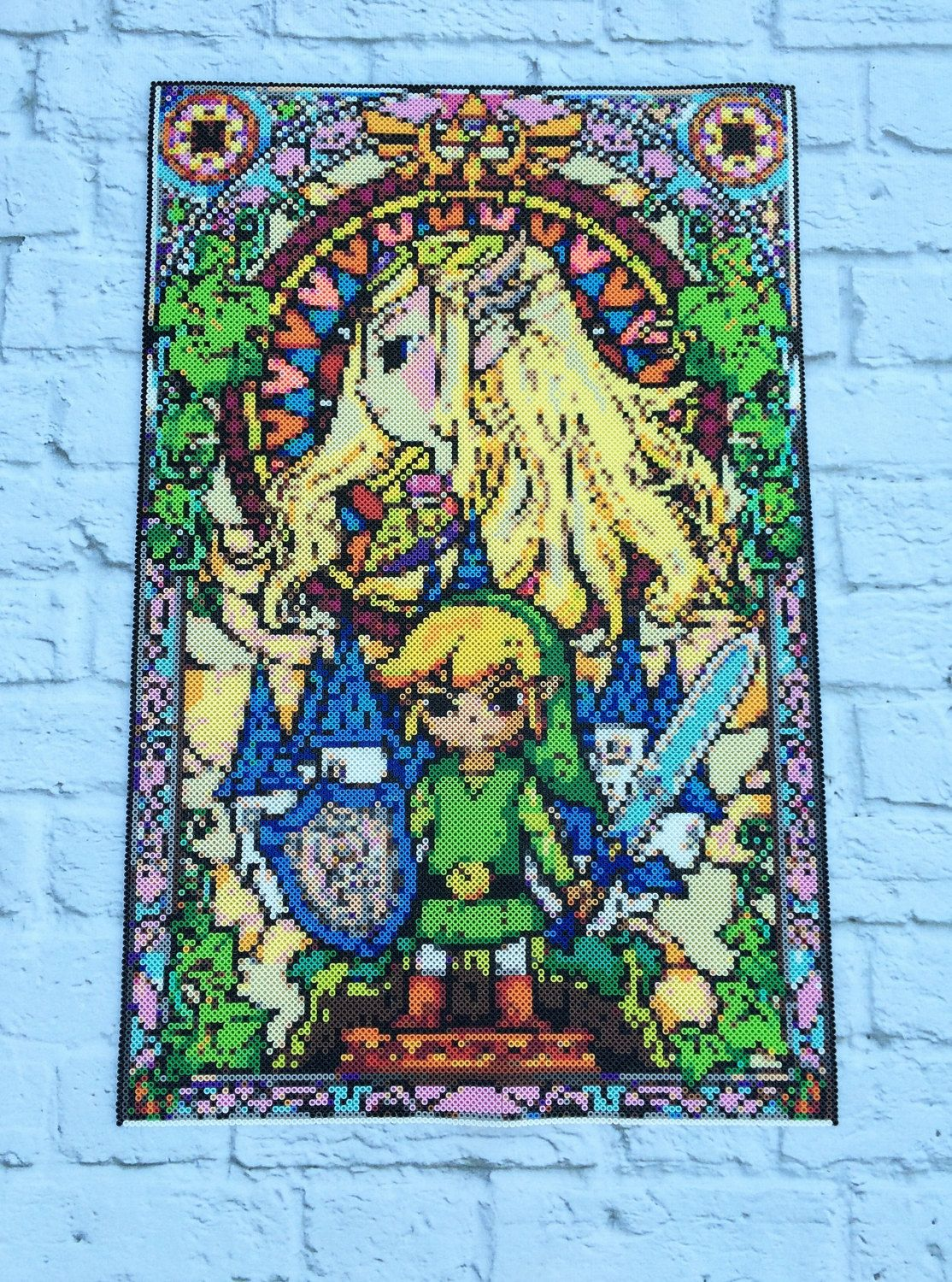 Legend Of Zelda Perler Stained Glass Poster By