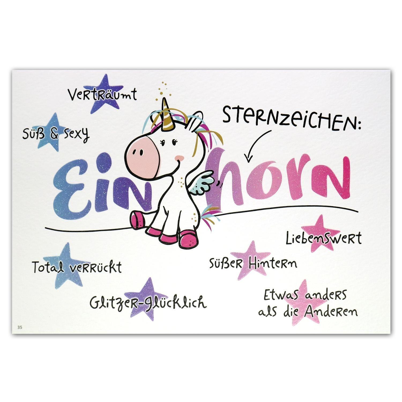 Postkarte Sternzeichen Einhorn Jetzt Online Kaufen Schneller
