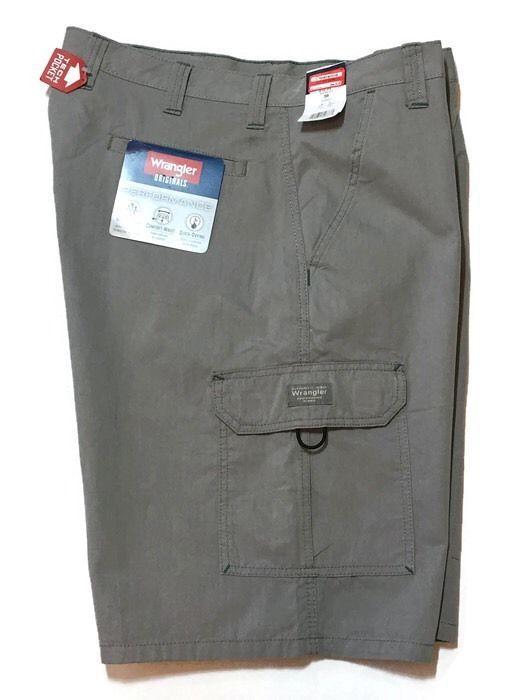 Wrangler Cargo Shorts 46 Tech Pocket Performance Hybrid Quick Dry Gray New Ebay