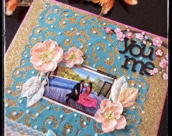 wedding scrapbook album large photo album personalized