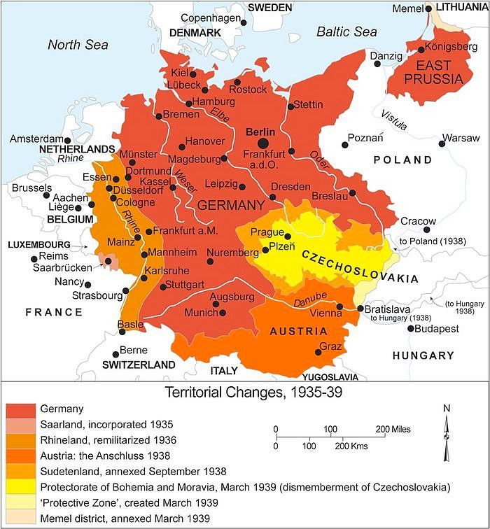 1939 map of german expansion just before wwii history world war 1939 map of german expansion just before wwii gumiabroncs Choice Image
