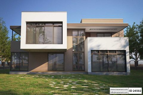 Four Bedroom Modern House Design Id 24502 House Plans Maramani Affordable House Plans Contemporary House Plans 3d House Plans