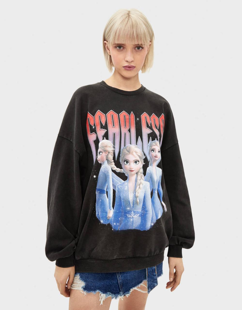 Frozen Sweatshirt Sweatshirts Hoodies Bershka United Kingdom Sweatshirts Sweatshirts Hoodie Hoodies [ 1281 x 1000 Pixel ]