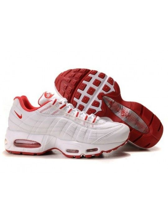 reputable site 28bf8 b088b Nike Air Max 95 Chaussures Femmes Blanc Rouge  i8HwRt