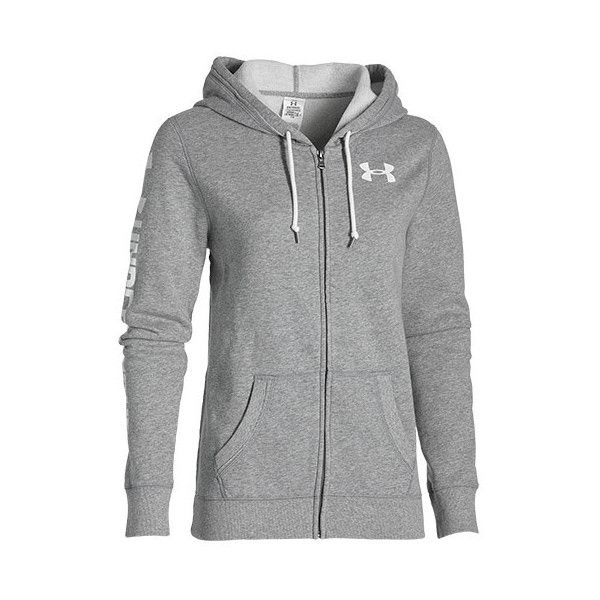 0519388cabc Women s Under Armour Favorite Fleece Full-Zip Hoodie ( 65) ❤ liked on  Polyvore featuring tops