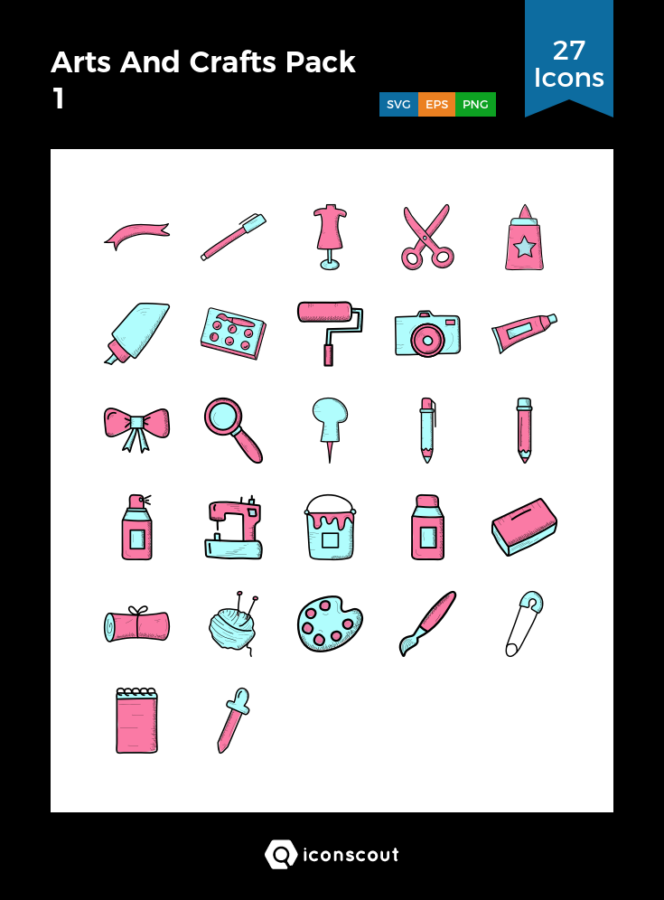 Download Download Arts And Crafts Pack 1 Icon pack - Available in ...