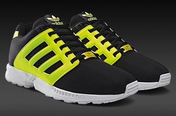 Mens Shoes - adidas Originals ZX Flux 2.0 - Black/Black/Electricity