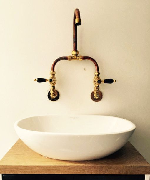 Traditional Twin Basin Sink Hot and Cold Taps Pair Chrome Bathroom Faucet  TB134: iBathUK: Amazon.co.uk: Kitchen & Home