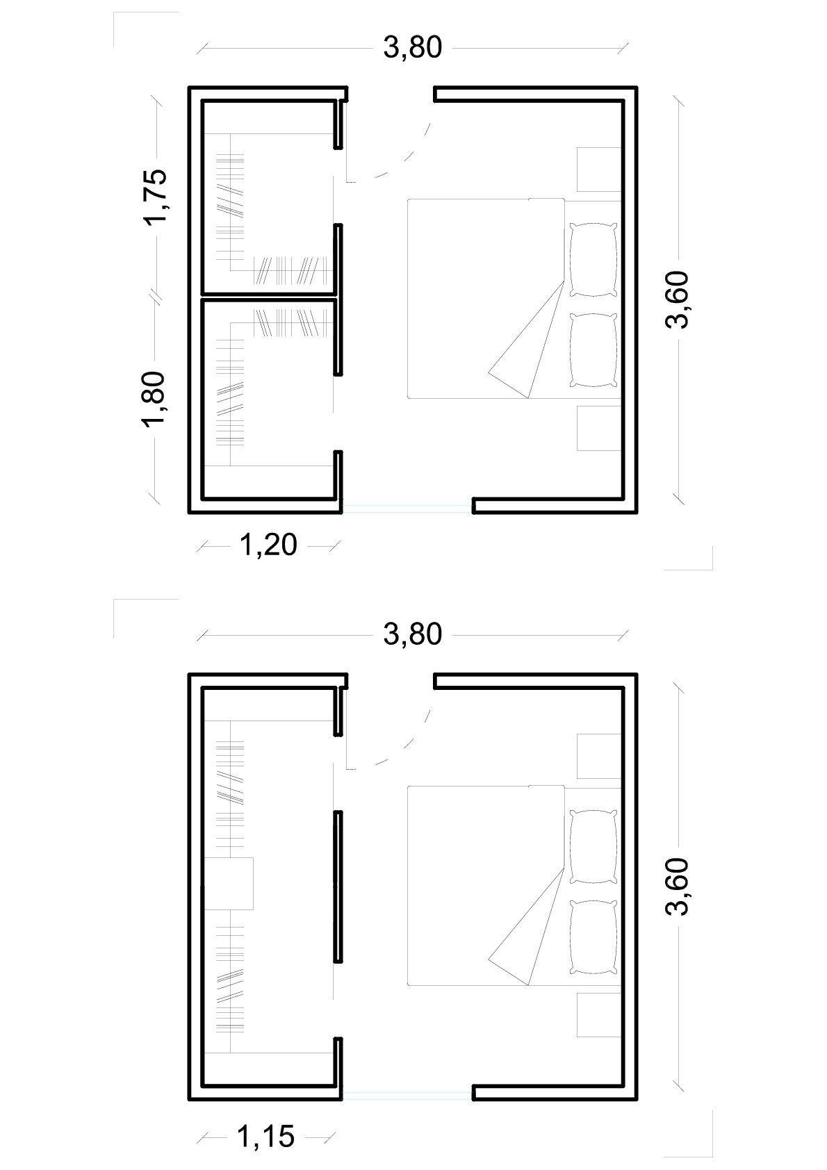 cabina armadio dietro al letto misure - Cerca con Google ...