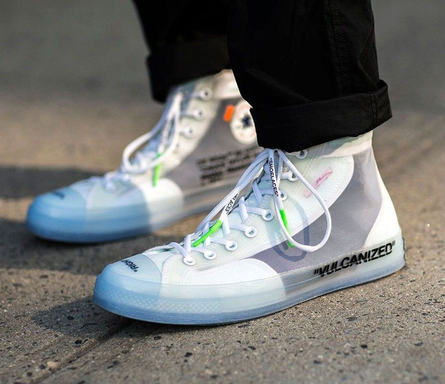 How The Off White X Converse Chuck Taylor All Star Virgil Abloh Looks On Feet Sneakers Men Fashion Sneakers Fashion Off White Converse