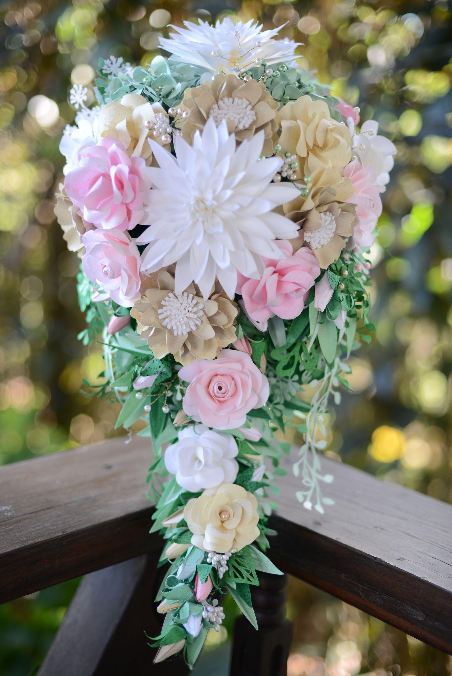 Paper flower cascading bouquet | Bridal by Deane Rozielle Nieva ...