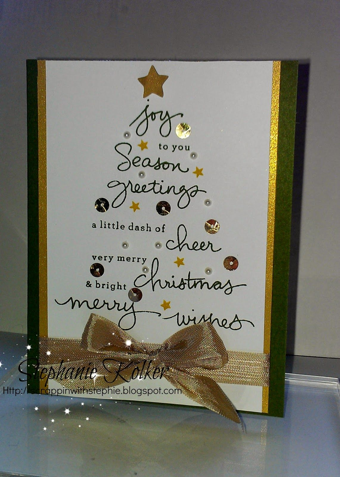 Stampin Up Endless Wishes Christmas tree card