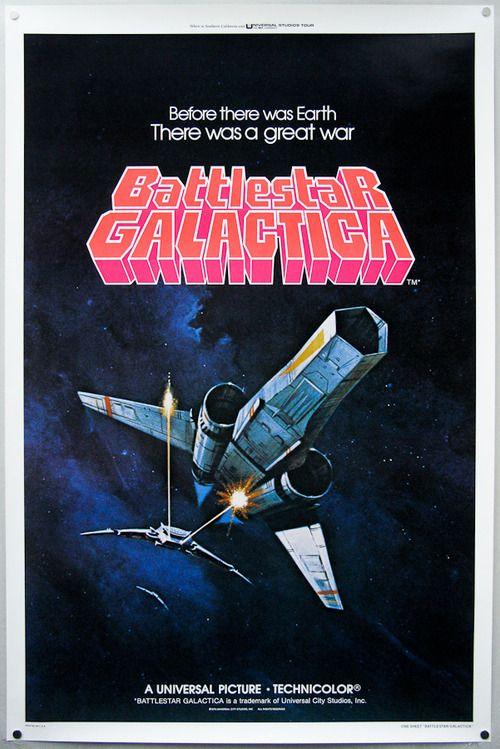 1979 Battlestar Galactica poster by Ralph McQuarrie